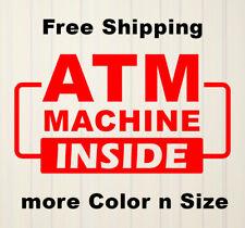 Atm Machine Inside Decal Vinyl Sticker Window Door Wall Sign Decals