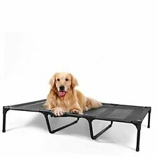 Elevated Dog Bed, Outdoor Dog Cots Beds for Large Dogs, Xl (48 X 36'') Black
