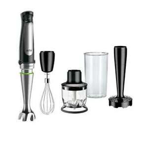 Braun MultiQuick Hand Blender MQ7027 1.5-Cup Food Processor Whisk Beaker Masher