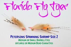 Petersons Spawning Shrimp Bonefish (4 Flies) Size 2 - Gamakatsu SL11-3H Hooks!
