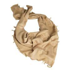 100% Cotton Arab Shemagh Headscarf Keffiyeh Sniper Veil Khaki Koyote Beige Sand