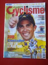 2009 PLANETE CYCLISME n°23 TOUR DE FRANCE TOUTES LES ETAPES CONTADOR VOECKLER