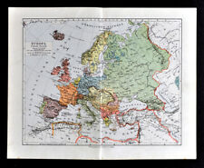 Map Of Germany 1900.Germany 1900 1909 Date Range Antique Europe Atlas Maps For Sale Ebay