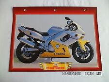CARTE FICHE MOTO YAMAHA YZF 600R THUNDERCAT   1996