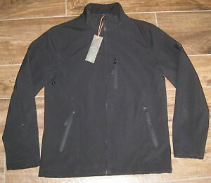 New TUMI BLACK 4T-2011SS T-Tech Zip Coat Jacket + Hood SMALL S SM NWT BLACK