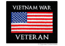 New listing Vietnam War Vet Military Patch embroidered iron-on Biker Us American Flag Usa