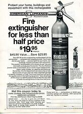 1974 Print Ad for American LaFrance Model A5A-1 Fire Extinguisher
