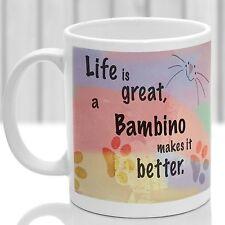 Bambino cat mug, Bambino cat gift, ideal present for cat lover