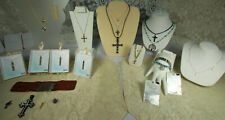 Religious Jewelry Lot 23pcs STERLING GOLD TIFFANY MILOR GEMSTONES NWT NOS VTG ++