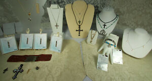 Christian Jewelry Lot 23pcs STERLING GOLD TIFFANY MILOR GEMSTONES NWT NOS VTG ++