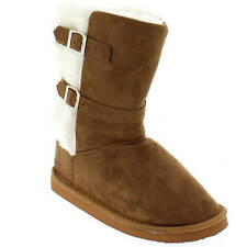 Shoes Of Soul Women's Rust Two Buckle Inner Faux Fur Boots Size 6