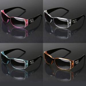 Women's Western Rhinestone Bling Studded Sunglasses Fashion Designer Glasses