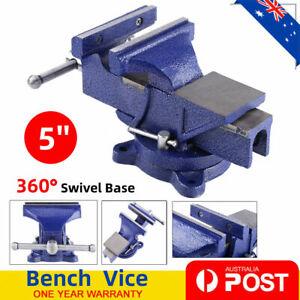 "5"" inch 125mm Heavy Duty Bench Vice Grip Clamp Capacity 360° Swivel Base AU SHIP"