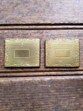 lockets etched Victory charm? Rare Antique/vintage lot of 2 picture pocket