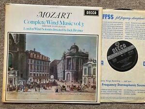 DECCA SXL 6049 WBG ED1 BRYMER - MOZART - COMPLETE WIND MUSIC vol. 3 NM