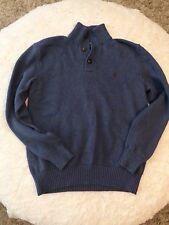 Men's Ralph Lauren Polo Blue Sweater 3 Button Size Medium