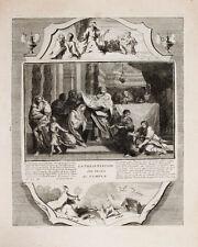 1728 grabado Biblia Biblia de jesús representación en el templo de jesús en the templo