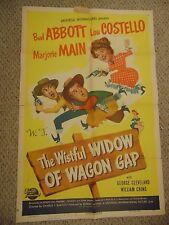 """Abbott & Costello The Wistful Widow Of Wagon Gap Original 27x41"""" Poster #L9579"""