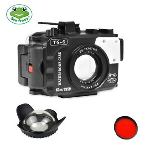 Seafrogs 195ft Underwater Camera Housing Case Kit for Olympus TG-6 w/ Dome Port