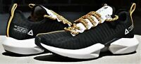 REEBOK SOLE FURY SE - New Men's Black Yellow Gold White Running Shoes Sneakers