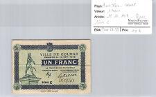 Ville de Colmar 1 Franc 15.12.1918 Série C n° 99250 Pirot 68.69