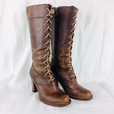 Frye 77610 Villager Lace Leather Boots Womens 6 Lace Up Style Knee High SOLD OUT