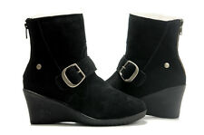 UGG® AUSTRALIA 5593 GISSELLA BLACK SUEDE ANKLE BOOTS UK 8.5 EU 41 US 10 RRP £275