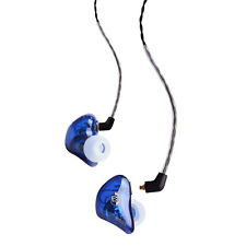 BASN Audio In Ear Earphones Double Dynamic HIFI Earbuds MMCX Cable Headphones