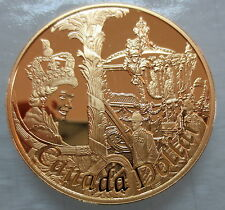 2002 CANADA GOLDEN JUBILEE PROOF GOLD PLATED SILVER DOLLAR