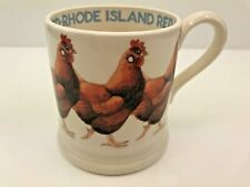 EMMA BRIDGEWATER Mug, Cup - Rhode Island Red Chicken, Hen - Half Pint - Mint