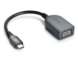 "USB C to VGA ADAPTER ONN SURF 4"" CONVERTER PC Mac compatible Adaptor Plug & Play"