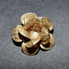 SALE Vintage Goofie Realistic Metal Flower Button #540