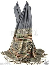 New Women's Fashion Warm 100% Cashmere Paisley Pashmina Shawl Wrap Scarf Scarves