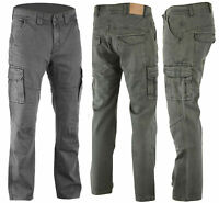 NEW BGA KEVLAR® LINED GREY CARGO JEANS REINFORCED INC REMOVABLE CE ARMOUR