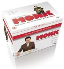 MONK 1-8 (2002-2009): COMPLETE Tony Shalhoub TV Seasons Series NEW UK DVD not US