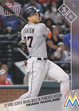Giancarlo Stanton Marlins Record 2017 Topps NOW 400 Score 22 Runs Texas Rangers