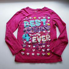 Childrens Place Girls Best Friends 4 Ever Pink  Long Sleeve Top Size M 7/8