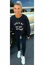 "Womens Ladies ""This Is My Day Off"" Slogan OverSize Sweatshirt Jumper Top Sweater"