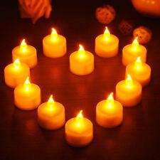 12x Electronic Battery LED Fake Candles Tea Lights Flickering Wedding Party Xmas