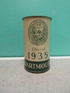 Vintage Old Rare Beer Can Dartmouth Class of 1935 Flat Top Metal Mug