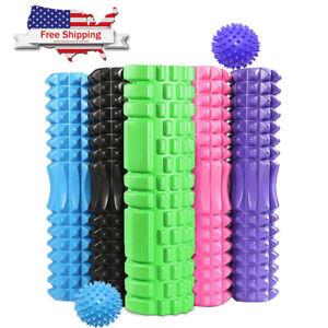 Yoga Foam Roller Back Muscle Rollers Set Trigger Point Leg Pain Massage Balls