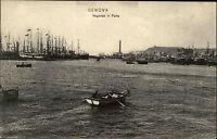 Genua Genova Italien Italia AK ~1910 Vogando in Porto Hafen Schiffe Navi Boote