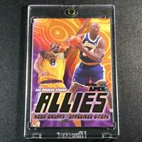 KOBE BRYANT / SHAQUILLE O'NEAL 1999 SKYBOX APEX ALLIES GOLD FOIL INSERT LAKERS