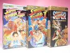 Used SUPER Famicom STREET FIGHTER Ⅱ & TURBO & SUPER 3games SFC JAPAN SNES CAPCOM