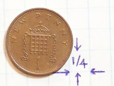 COIN GREAT BRITAIN 1980 NEW PENNY COPPER ENGLAND UNITED KINGDOM