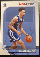 2019-20 NBA Hoops Brandon Clarke Rookie Card #217 MEMPHIS GRIZZLIES MINT HOT