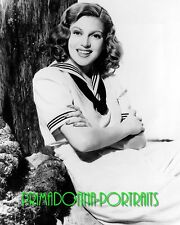 LANA TURNER 8X10 Lab Photo B&W Sexy 1940s Sailor Time Sweetheart Portrait