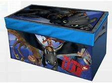 How To Train Your Dragon 2 Collapsible Kids Portable Toy Storage Trunk Chest New