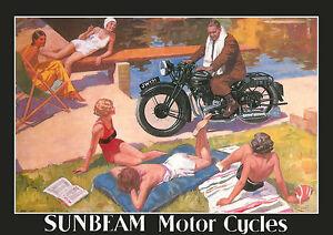 1930's Sunbeam motorcycles poster