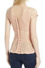 NWT Free People Besties Lace Tee, Blush - Size XS $78.00